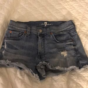 Jean shorts worn a few times only